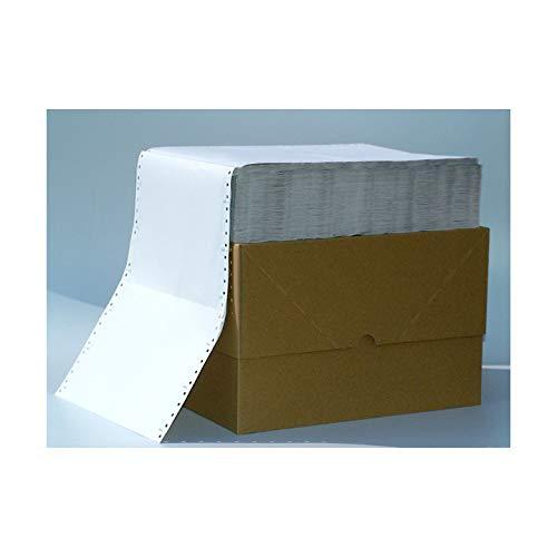 Endlospapier 6 Zoll x 240 mm (A5 quer 152,4 mm x 240 mm) 2-fach blanko 60/57 g/qm 2200 Blatt