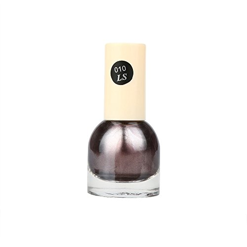 Gold Nagellack,EUZeo Spiegel Effekt Nagellack Folie Nagellack Glitter Silber Nagellack Nailart (J)
