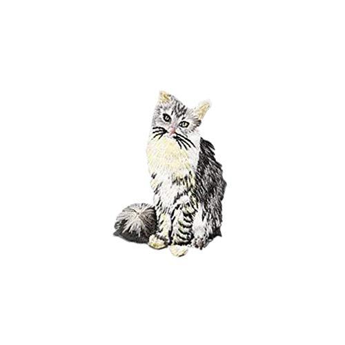 Yinew Katze Patch Tuch Nette Kitty Tier Patch Tuch Aufkleber Applique Kleidung Kleid Hut Jeans Nähen Blumen DIY Zubehör, B