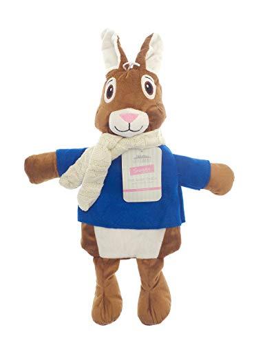 Kinder Wärmflasche mit Abdeckung 1L 100% Naturkautschuk Plüsch Peluche Kaninchen Koala Rentier Weihnachten Elf Rainbow Unicorn Geschenk Zubehör (Hase)