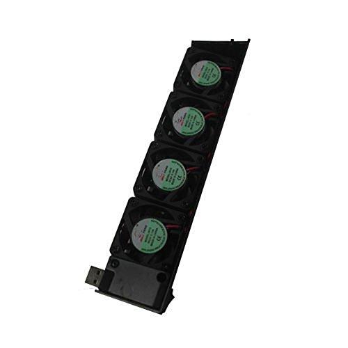 Schwarze USB 4 Lüfter mit niedriger-Lärm Kühlventilator für Sony Playstation 3 (PS3) - Xbox Konsole-einheit 360