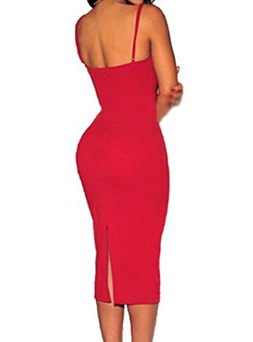 Dissa® FOB60017 deman Cocktailkleider,Partykleid Rot
