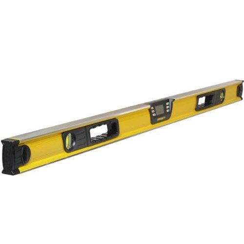 Stanley FatMax digitale Wasserwaage (120 cm, Neigungsmesser, Hohe Messgenauigket und Messbereich, Messung in Grad, Prozent, mm/m) 0–42–086