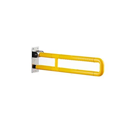 BAIF Barrierefreier Bad-Sicherheitshandlauf Senioren Edelstahl Klapparmlehne 60cm (Farbe: Gelb) -