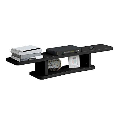Lagerregal FEI, Floating Shelf , High Density Board und natürliche Oberfläche Regal für DVD/Satellite TV Box Wandhalterung Regal DVD WiFi Einheit Regal (Farbe : C) -