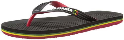 Quiksilver Haleiwa, Tongs Homme Noir - Black/Red/Green