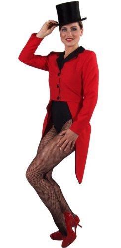 Frack für Frau Frauen Gehrock 36 S Rot Red Kostüm Cabaret 20er 30er (Roter Frack Kostüm)