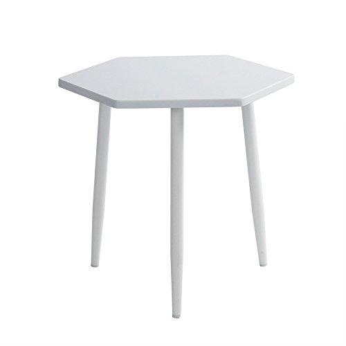 Ende Tisch ihouse Kaffee Tee Snack Sechseck Beistelltisch Sofa Nachttisch Flur Home Möbel Schlafzimmer Wohnzimmer, Schreibtisch weiß