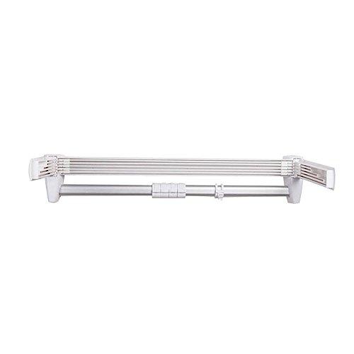 SSBY Alluminio pieghevole retrattile asciugamani, 64 * 33 * 12cm bagno multi-funzione rack - 12 Intaglio Bar