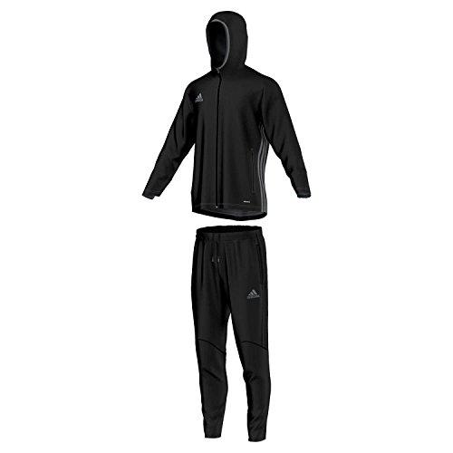 adidas Herren Sportanzug Präsentationsanzug Condivo 16 Trainingsanzug, Kastanienbraun/Minblu, 2XL