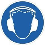 Schild Gehörschutz benutzen 20cm Ø PVC gemäß ASR A 1.3/BGV A8/DIN 4844