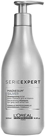 L'Oréal Professionnel Magnesium Silver - Champú morado oscuro, que ayuda a neutralizar los tonos amarillos