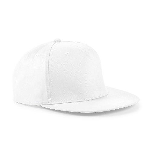 Snapback Hip Hop Rapper Cap, Farbe:White;Größe:One Size one size,White