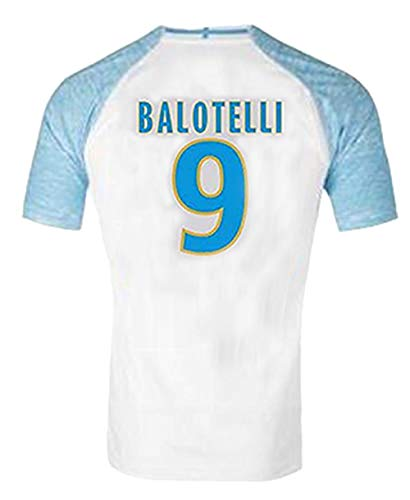 2019 for Marseille Maillot de Foot T-Shirts Balotelli Payet L.Gustavo THAUVIN 18 19 Camiseta de Futbol Shirts (M, Blanc 02)