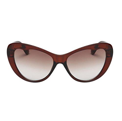 HAOYUXIANG Mode Katzenaugen-Sonnenbrille Zustrom Von Menschen In Europa Und Amerika Sonnenbrille Frau,BrownGradientTea
