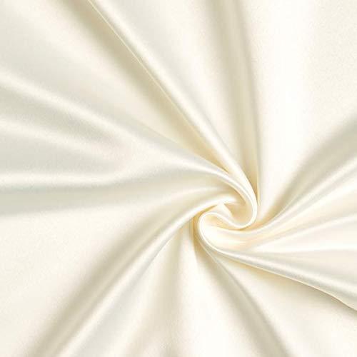 Fabulous Fabrics Brautsatin Stretch - wollweiss - Meterware ab 0,5m - zum Nähen von Brautmode und Abend- und Partymode