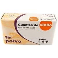 GUANTES DE VINILO SIN POLVO Talla L .10 Cajas x100U pack (1000u) .