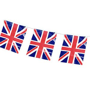 Henbrandt Union Jack Bunting - 4m with 11 Flags (Union Jack Wimpel)
