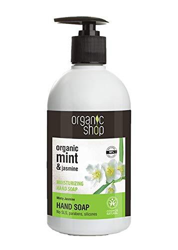 Organic Shop Jazmín Mentolado Jabón Manos Hidratante