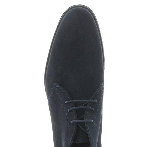Lloyd 26-734-29 Paolino Ocean (blu Scuro) - Moda Allacciatura Boot - Libra Suede - Suola In Gomma Ocean
