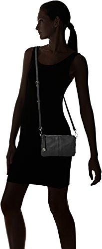 PIECES Damen Pcjustine Cross Body Umhängetasche, 5 x 16 x 23 cm Schwarz (Black)