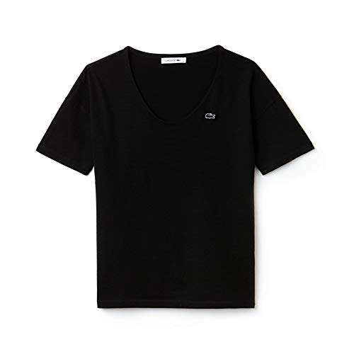 Lacoste Damen T-Shirt Tf3049, Schwarz (Black 031), 30 (Herstellergröße: 32)