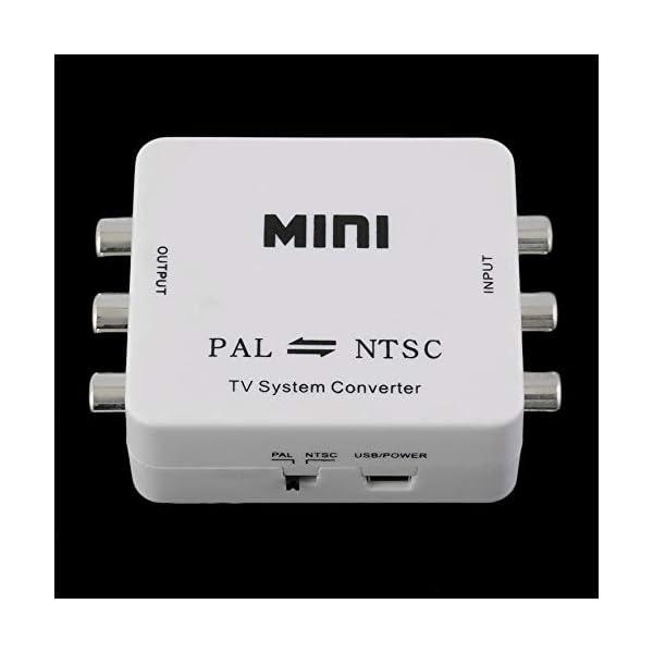 RoadRoma PAL NTSC SECAM A NTSC PAL TV Adaptador de conmutador convertidor de Sistema de Video Nuevo (Blanco) 2