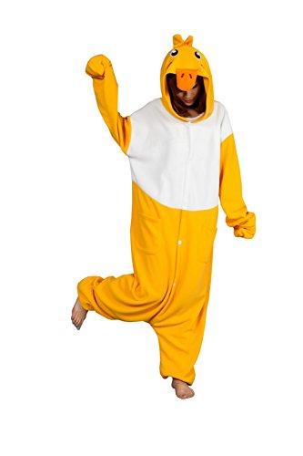BRLMALL Unisex-Adult Kigurumi Duck Pajamas (Familie Duck Kostüm)