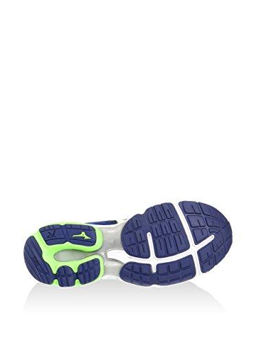 Mizuno Wave Rider 19 - Chaussures de running - bleu 2016 twilight blue/white/green gecko