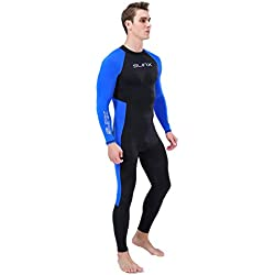 Lomsarsh Homme Wetsuit Body Suit Super Stretch Combinaison de plongée Natation Surf Snorkeling