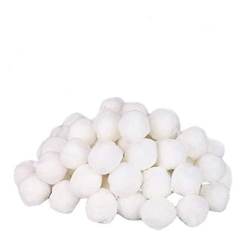 Sunnyushine Filter Balls Für Sandfilteranlagen, Filterballs Pool Sandfilteranlage700g | Spezielle Feinfilterfaser Ball | Hochfeste Und Langlebige Schwimmbadreinigung, Für Pool Sandfilter (Weiß) (Spezielle Filter)