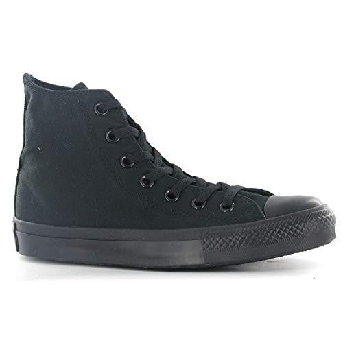 Converse Sneaker All Star Hi Canvas, Sneakers Unisex Adulto, Nero (Black Monochrome), 39.5 EU
