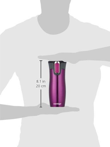 Contigo Autoseal West Loop Stainless Steel Travel Mug, 470 ml – Raspberry