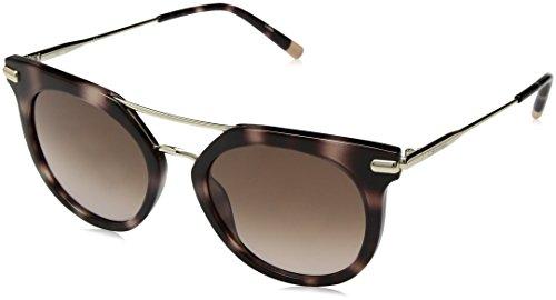 Calvin Klein Women's Ck1232s Round Sunglasses, ROSE HAVANA, 52 mm