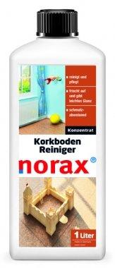 norax Korkboden Reiniger 1l - frischt die Korkoberfläche wieder auf, verleiht dem Boden leichten Glanz und wirkt gleichzeitig schmutzabweisend