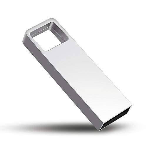 Getue USB Stick 32GB Speicherstick USB 2.0 USB-Stick Mini USB Stick Wasserdicht USB Sticks Memory Stick (D-32GB, Silber-D)