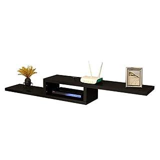 Set Top Box Regal Schwimmrahmen TV-Konsole Wandhalterung Legen Sie Einen DVD-Player EIN Mehrfarben Optional (Farbe : SCHWARZ, größe : 150 * 23 * 20cm)