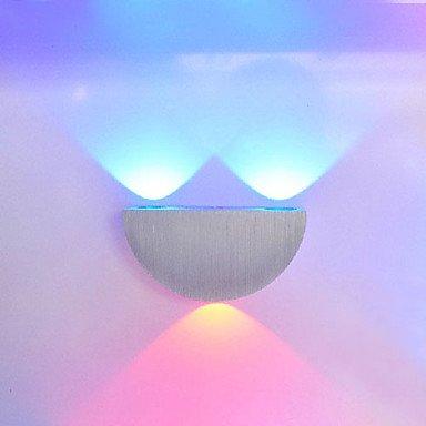 3W moderne Led applique murale avec diffusion de la lumière semi-Globe UFO Conception, Blanc Chaud