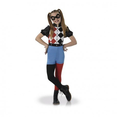 Warner - I-630025M - Déguisement Classique Harley Quinn Superhero Girls - Taille M