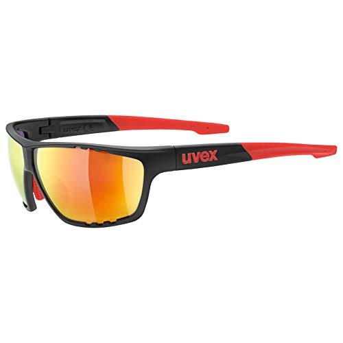 uvex Unisex- Erwachsene, sportstyle 706  Sportbrille, anthracite-red, one size