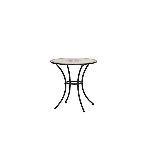 Siena Garden Tisch Stella, Ø70x71cm, Gestell: Stahl, pulverbeschichtet in schwarz matt, Fläche:...