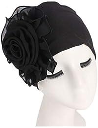 Zoylink Chica Sombrero Elegante Envoltura De La Cabeza De Turbante Turbante Flor De Sombreros Para Mujeres