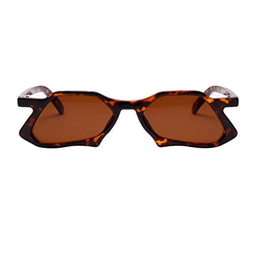 Sonnenbrillen für bezaubernde Damen Strahlenschutz Mode Damen Bekleidung Accessoires Leopard Design(A,free)