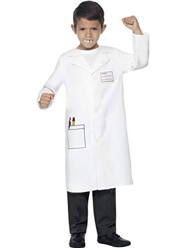 Luxuspiraten - Jungen Kinder Arzt Doktor Zahnarzt Kostüm mit Kittel und falschen Zähnen, perfekt für Karneval, Fasching und Fastnacht, 122-134, Weiß
