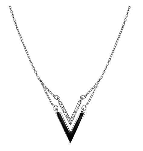 SOFIA MILANI Damen Kette Halskette Dreieck V Doppelt Silber 50232