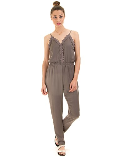 VILA CLOTHES Damen Vilany Jumpsuit, Grau (Granite Grey)