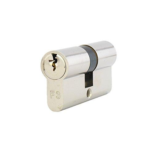 ISEO F3 (GERA 5900) Doppelzylinder Halbzylinder Schließzylinder inkl. 3 Schlüssel bzw. 5 Schlüssel - ohne Sicherungskarte - Standardzylinder Türschloss - 30/40-3 Schlüssel