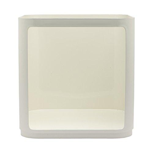 Kartell 497903 Baukastenelement Componibili ohne Tür eckig undurchsichtig 38 x 38,5 x 38 cm ABS, weiß
