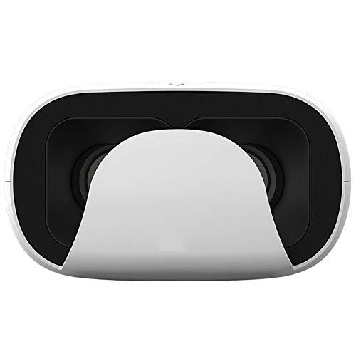 VR-Brille Virtual Reality Helm, Unterhaltung Social Watching Filme für Smartphones erforderlich,White