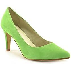 CONBUENPIE Salon, Damen Pumps, grün - grün - Größe: EU 38